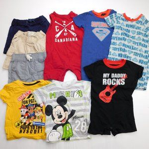 9 pc Baby Boys 12-18 Months Summer Clothing Lot